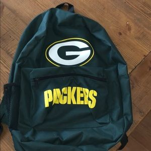 2 pocket Green Bay Packers backpack